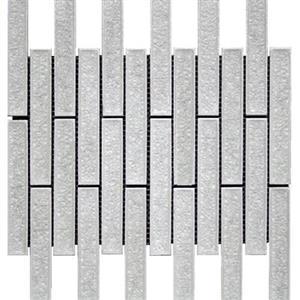 GlassTile BarossaValleyGlass MNKB0241 BrickPattern-Peppermint
