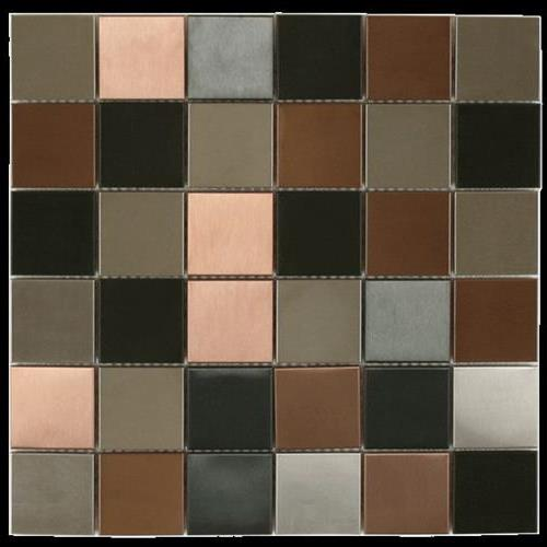 MetalTile Murray River Metals Black Stainless / Copper Antique / Stainless  main image