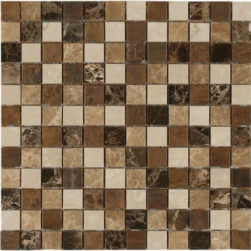 Anakie Marble  Metal Emperador - 1X1 Mosaic