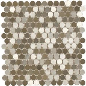 MetalTile PerthPennyRounds A9501 StainlessBrushed