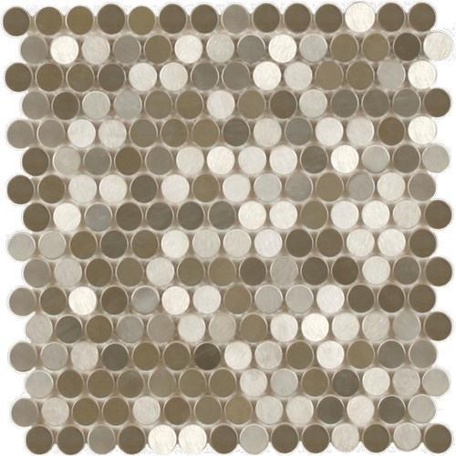 MetalTile Perth Penny Rounds Stainless Steel  main image