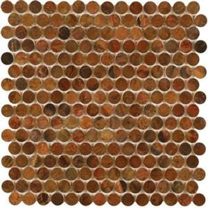 MetalTile PerthPennyRounds A9504 AntiqueCopper