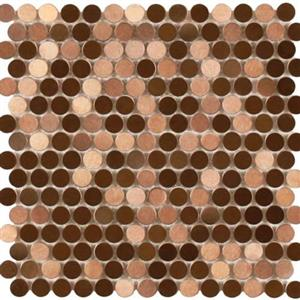 MetalTile PerthPennyRounds A9505 CopperBrushed