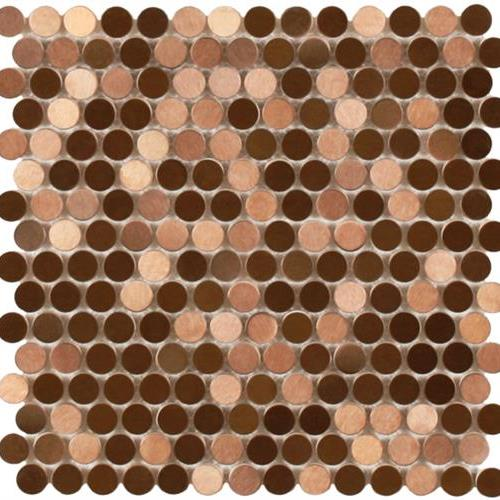 MetalTile Perth Penny Rounds Copper  main image