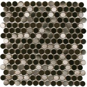 MetalTile PerthPennyRounds A9507 BlackMetalBrushed