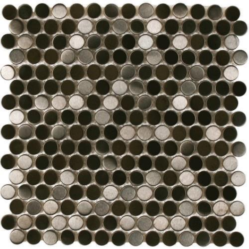 Perth Penny Rounds Black Metal Brushed