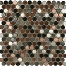 MetalTile Perth Penny Rounds Blend Brushed  thumbnail #1