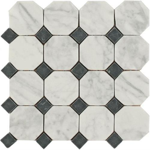 Daintree Exotic Mosaics - Octagon Bianco Carrara With Nero Dot