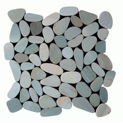 Botany Bay Pebbles - Sliced Sea Green