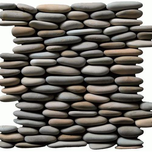Botany Bay Pebbles - Stacked Olive