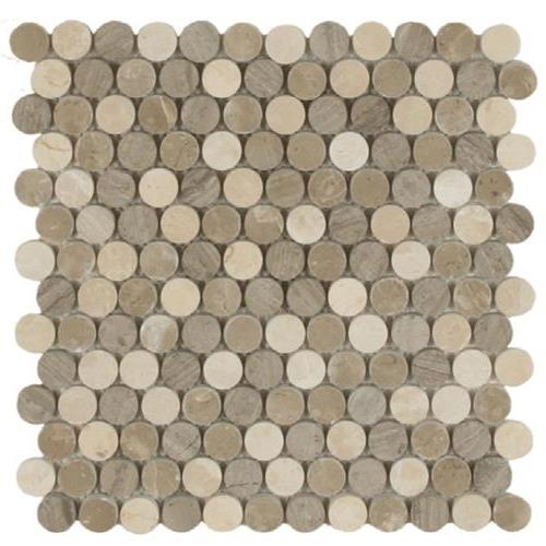 Daintree Exotic Mosaics - Stone Dots Clay Blend Polished