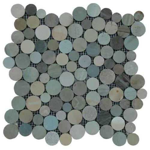 Botany Bay Pebbles - Coin Olive