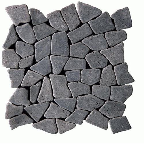 Botany Bay Pebbles - Opus Tumbled Lava Black