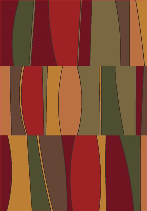Sinclair Rug-187 Tapestry Red-Oval