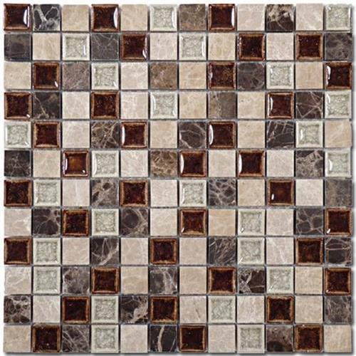 Tranquil - 1X1 Mosaics Coffee  Cream