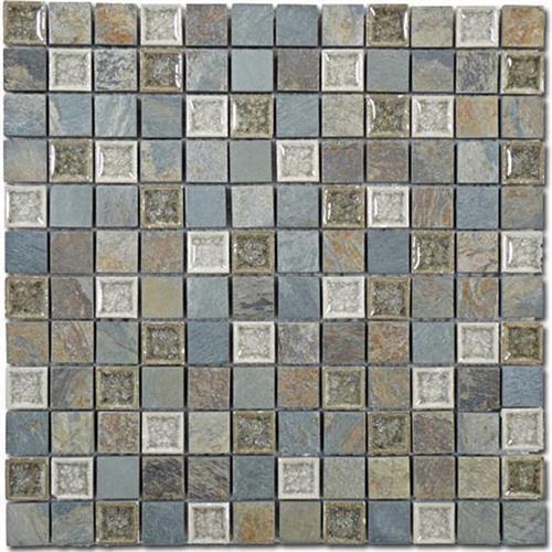 Tranquil - 1X1 Mosaics Blue Green Wash