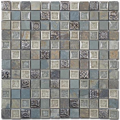 Tranquil - 1X1 Mosaics Methodical Grey