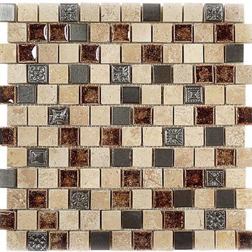 Tranquil - 1X1 Offset Mosaics Russian Denim
