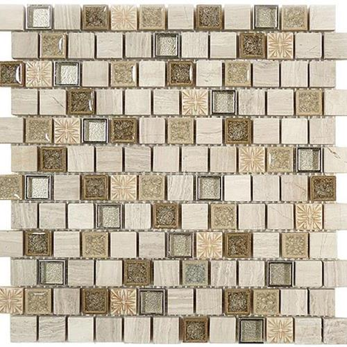 Tranquil - 1X1 Offset Mosaics Grey Huron