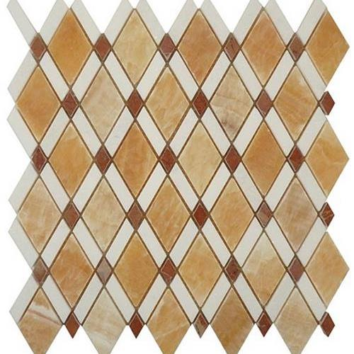 Diamond Honey Onyx  Thassos White
