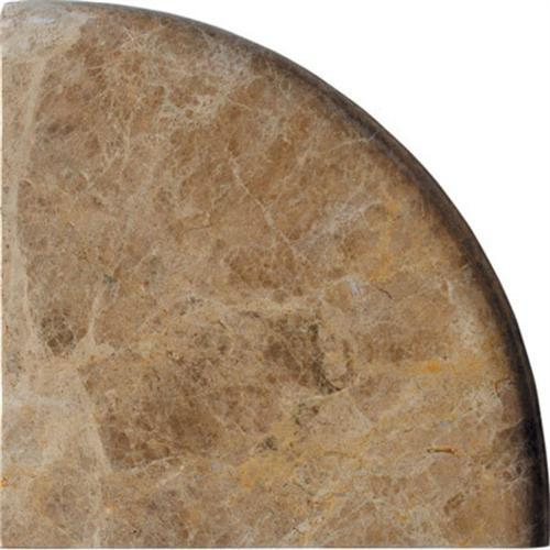 Natural Stone Corner Shelves Light Emperador Polished Marble