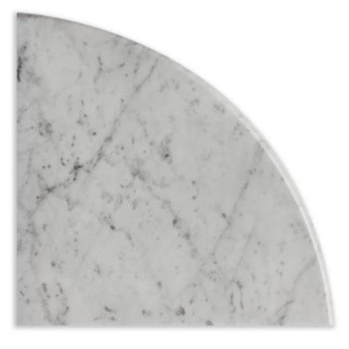 Natural Stone Corner Shelves Bianco Carrara