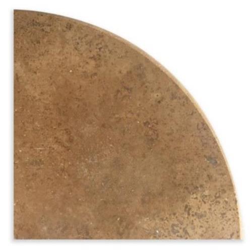 Natural Stone Corner Shelves Noce Travetine Honed  Filled