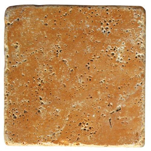 Natural Stone Tiles Yellow Tumbled Travertine