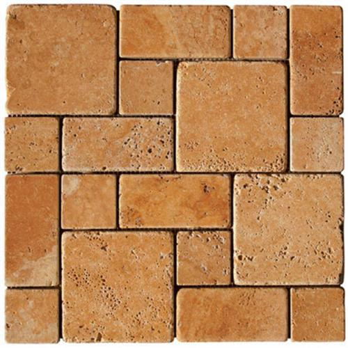 ATS Natural Stone Roman Pattern Mosaics Light Tumbled