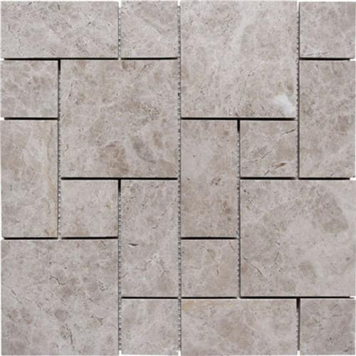 Natural Stone Roman Pattern Mosaics Galaxy Gray Polished Marble