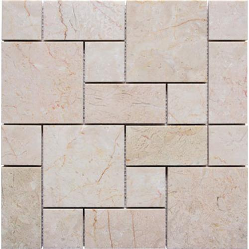 Natural Stone Roman Pattern Mosaics Crema Barla Polished