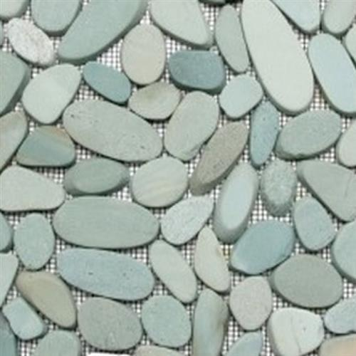 Sliced Pebble Mosaic Green