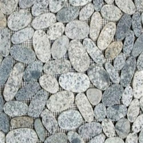 Sliced Pebble Mosaic Sliced Grey