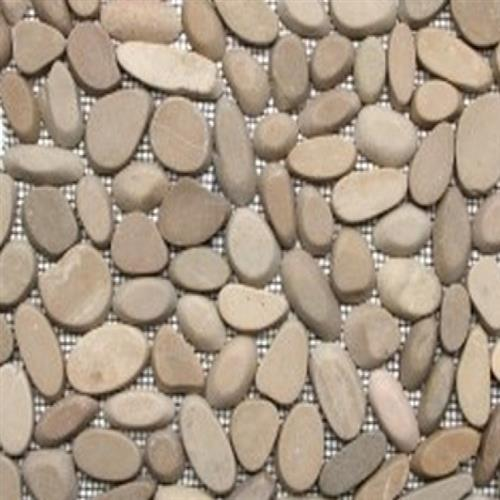 Sliced Pebble Mosaic Tan