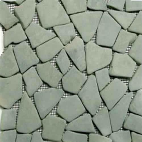 Flat Pebbles Mosaic Pastel Green