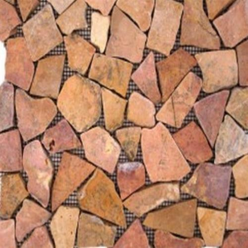 Flat Pebbles Mosaic Sedona Red