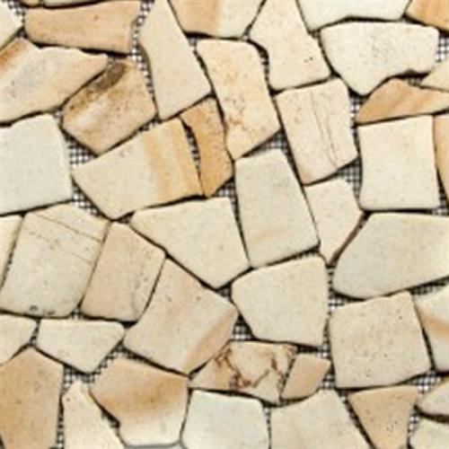 Flat Pebbles Mosaic Desert Sandstone
