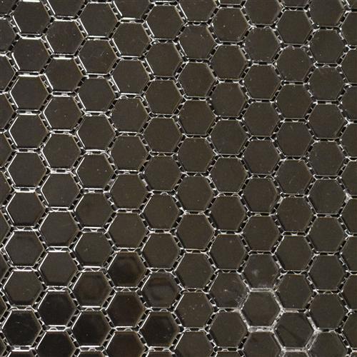 Vintage Series 1X1 Glossy Black Hexagons