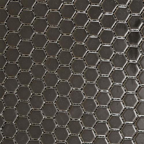 Vintage Series 1X1 Matte Black Hexagons