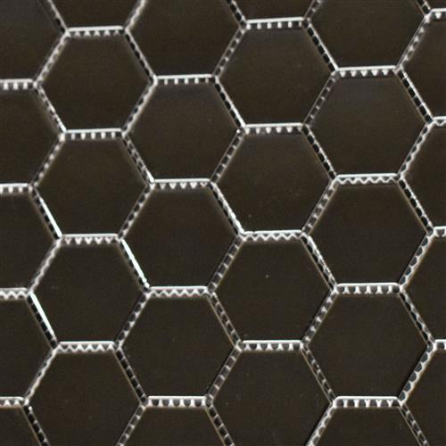 Vintage Series 2X2 Glossy Black Hexagons