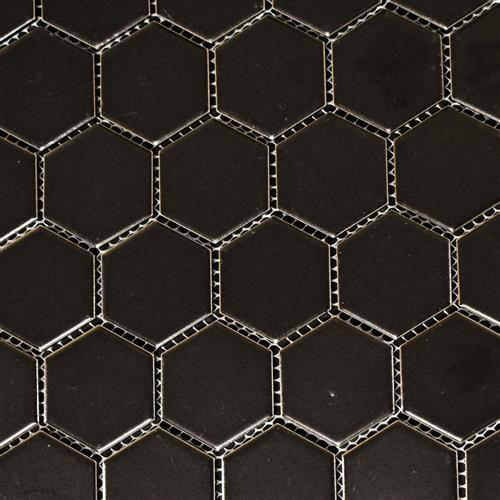 Vintage Series 2X2 Matte Black Hexagons