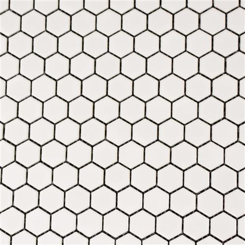 Vintage Series 1X1 Glossy White Hexagons