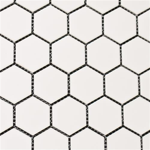 Vintage Series 2X2 Glossy White Hexagons
