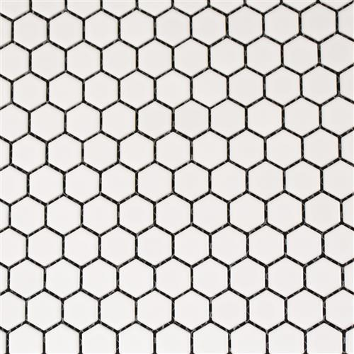 Vintage Series 1X1 Matte White Hexagons
