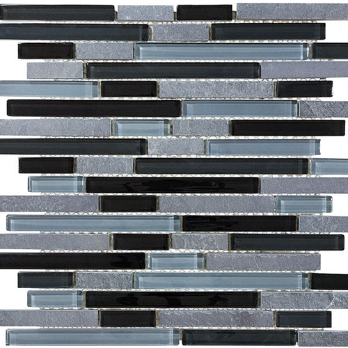 Bliss  Black Timber Linear Glass Slate Blend