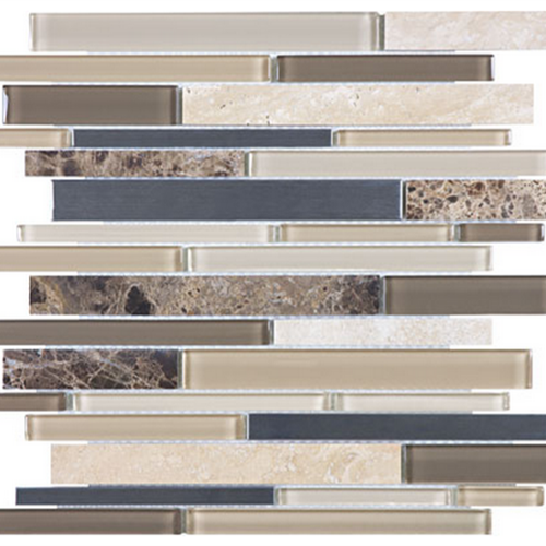 Bliss  Woodland Park Linear Glass Stone Stainless Linear Blend