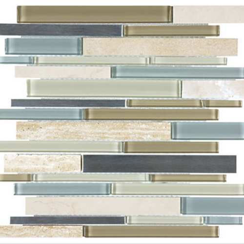 Bliss  Sea Coast Linear Glass Stone Stainless Blend