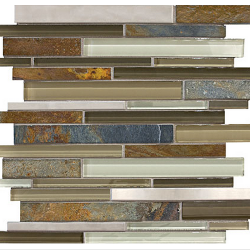 Bliss  Nature Trail Linear Glass Stone Stainless Blend