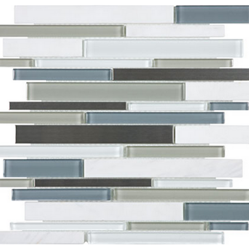 Bliss  Nordic Storm Linear Glass Stone Stainless Blend