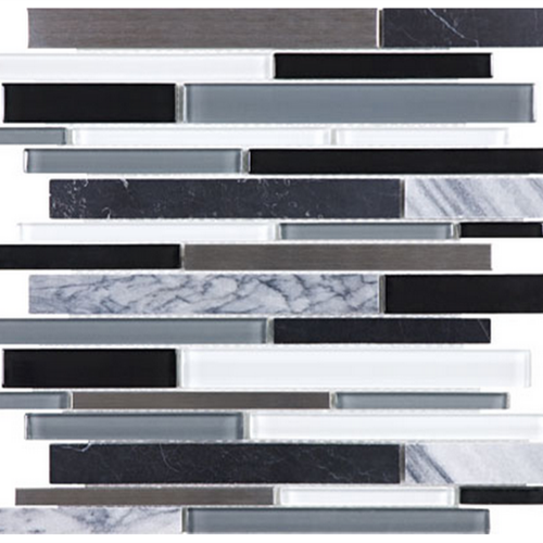 Bliss  Artic Night Linear Glass Stone Stainless Blend